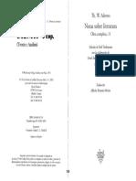 ADORNO - La Posición Del Narrador en La Novela Contemporánea (en, Notas Sobre Literatura)