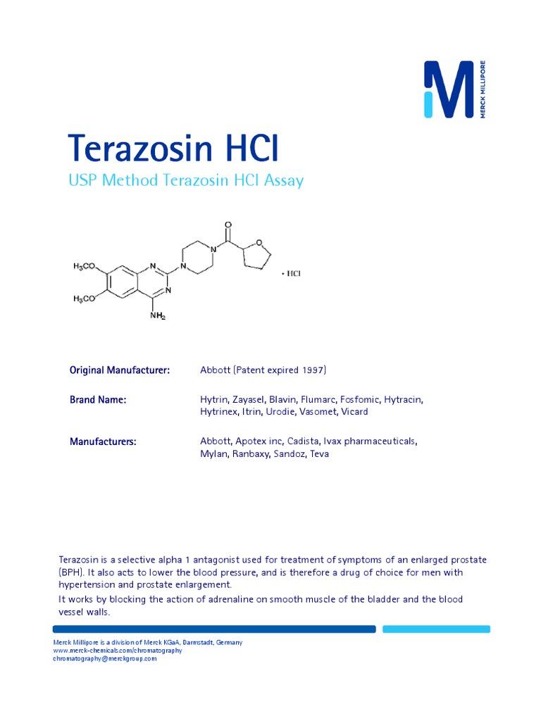 0018 USP Terazosin MM | Chromatography | Elution