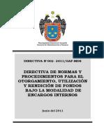 Directiva Nº 002 2011 Mp Surquillo