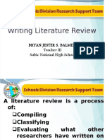 Writing Review of Related Literature