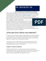 TECNICAS DE VALORIZACION DE UNA EMPRESA QUE COTICE EN LA BOLSA DE VALORES DE LIMA.docx