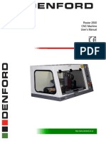 Router 2600 Operator Manual