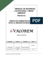 Informe Mensual 003 de SSOMA del Hotel el Mirador.docx