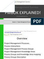 Project Management Success - PMBOK Explained - Session 3 Project Management Processes
