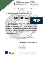 Certificado Cuba Misael