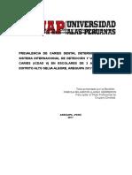 PREVALENCIA DE CARIES DENTAL DETERMINADA POR EL SISTEMA INTERNACIONAL DE DETECCIÓN Y VALORACIÓN DE CARIES (ICDAS II) EN ESCOLARES DE 3 A 5 AÑOS DEL DISTRITO ALTO SELVA ALEGRE%252c AREQUIPA 2017.docx