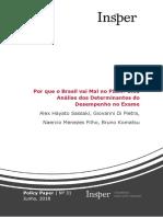 Por Que Brasil Vai Mal PISA Analise Determinantes Desempenho