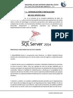 Introducción e Instalación SQL Server
