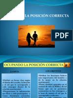 OCUPANDO LA POSICIÓN CORRECTA.pptx