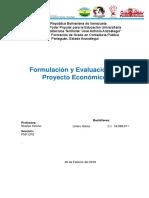 Informe de formulación y Evaluación de proyecto Economico.docx