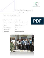 Project Management Training Report