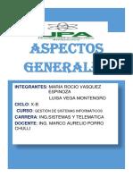 ASPECTOS GENERALES