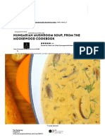 Hungarian Mushroom Soup, From the Moosewood Cookbook Recipe - Genius Kitchen