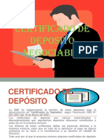 Certificado de Deposito Negociable