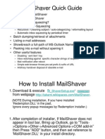 Mail Shaver Quick Guide
