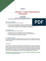 SLM Content Orgnisation & Presentation