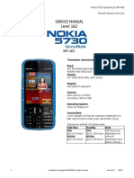 Nokia 5730XpressMusic RM-465 Service Manual L1&2 v1.0