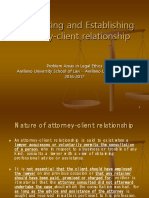 13. Terminating and Establishing Attorney Client Relationship 1