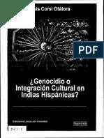 Genocidio o integración cultural en Indias Hispánicas - Luis Corsi Otálora