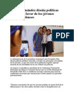 Laura Fernández diseña políticas públicas a favor de los jóvenes portomorelenses