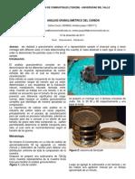 Informe de Analisis Granulometrico Del Carbon