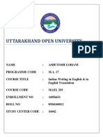 MAEL_203 UOU Solved Assignment MA17-English (Final Year) 2019