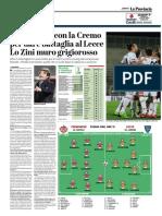 La Provincia Di Cremona 07-04-2019 - Serie B