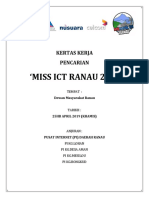 Kertas Kerja Pencarian Miss ICT Ranau 2019