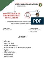 Security of biomatrix