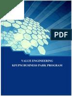 Revised VE report for KFUPM  Business Park Program.docx