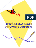 Investigation of Cyber Crimes 18 Aug 08
