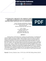 Accelerated Corrosion and Adhesion Assessments of Carc Prepared Aluminum Alloy 2139-t8