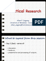 Practical Research July 17 2016