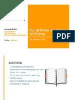 Social Media Monitoring 2010