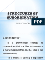 Structures of Subordination