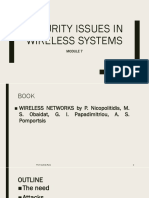 Security Issues in Wireless Systems
