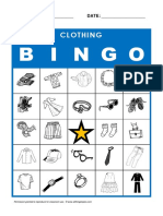 Picture Bingo Clothing