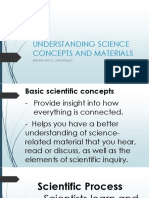 Understanding Science Concepts and Materials