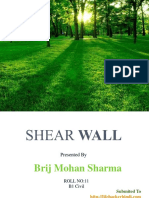 Shear Wall Summary