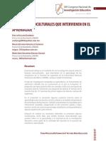 Factores Socioculturales Que Interveinen en El Aprendizaje