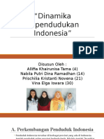 Dinamika Kependudukan Indonesia