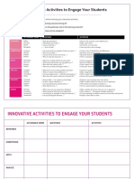 Innovative Activities Template