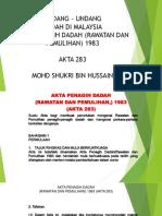 Akta Penagih Dadah Rawatan Dan Pemulihan 1983