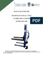 Manual tehnic stivuitor manual Prolift