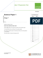 Test Paper for Paper 1 STAGE 7