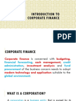 Lecture No.01 an Intro to Corporate Finance