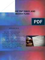 Current PNP Thrust & Master Plans 2019