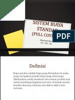 9 Sistem Biaya Standar