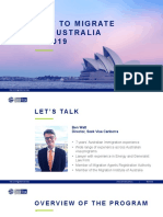 Webinar- How to Migrate to Australia in 2019