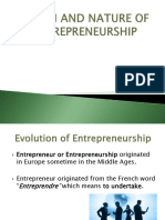 ORIGIN AND NATURE OF ENTREPRENEURSHIP.ppt